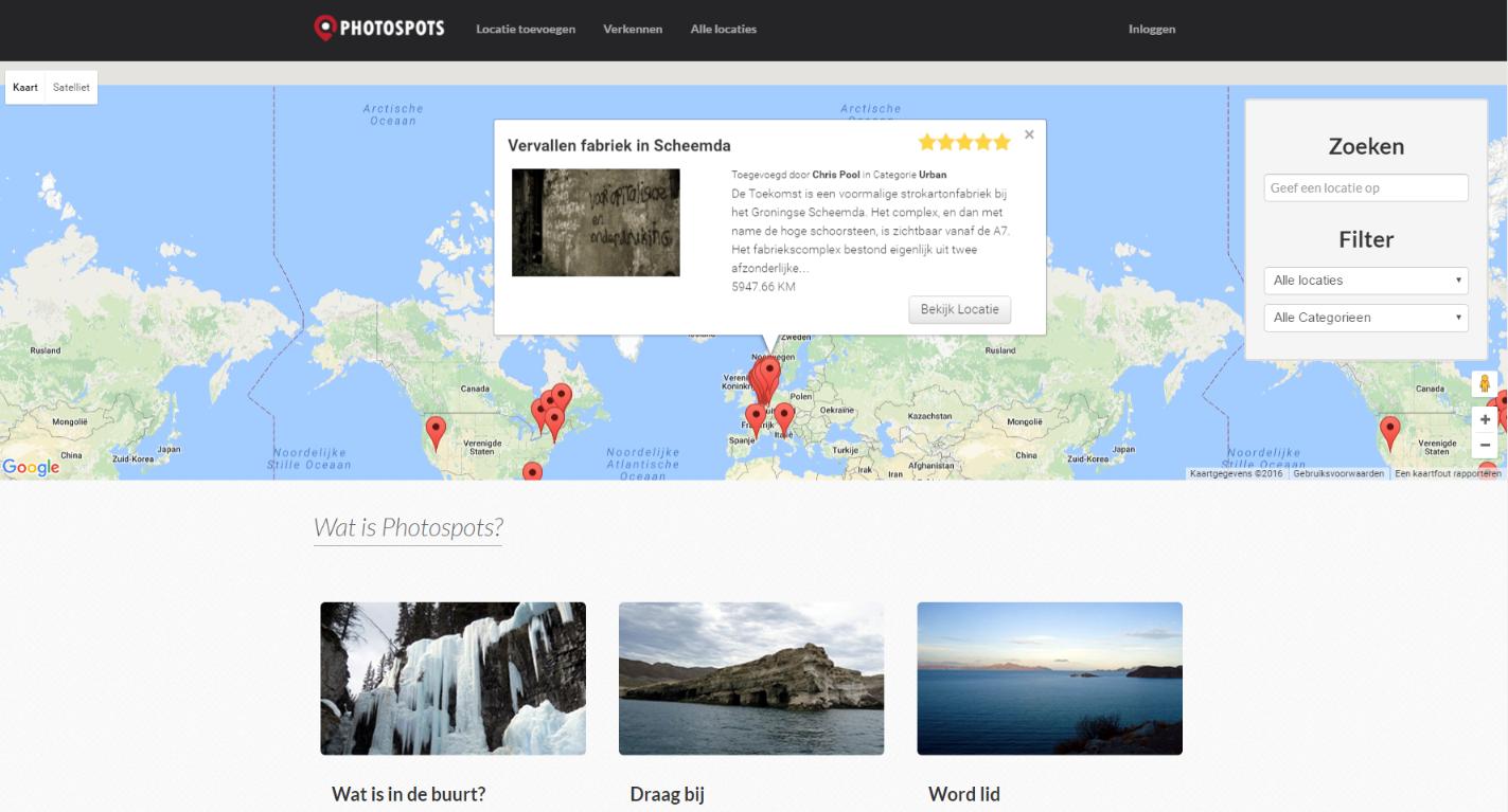 Nieuwe website gelanceerd voor het vinden van de beste foto locaties!